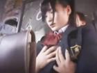バスの中で痴漢にあいエスカレートしてチンポしゃぶらされて顔射されるロリ顔美少女女子校生 つくしerovideoかわいい制服女子校生JKの無料エロ動画