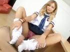 勉強中ちょっかい出してきて自慢の美脚と巨尻でチンコ弄んでくるセーラー服の金髪激カワギャルJK FC2 かわいいJK女子校生の制服無料エロ動画