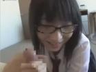 真面目そうな黒髪メガネっ子JKの美尻を舐めまわしバックから生挿入中出しSEX erovideo かわいい JK 女子校生の制服無料エロ動画