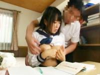 家庭教師に強引に迫られ巨乳おっぱいを揉まれながら犯されてしまう初心な女子校生 FC2 かわいい制服女子校生JKの無料エロ動画