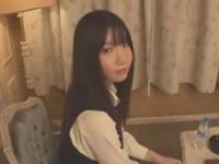 ホテルで待ち合わせた黒髪JKがおもったよりエロくて思わず発情!!制服着せたままマッタリ生SEX erovideo かわいい JK 女子校生の制服無料アダルト動画