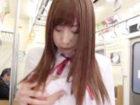 電車の中でする痴漢プレイに興奮して感じまくる変態女子校生の妄想セックス FC2 かわいいJK女子校生の制服無料アダルト動画
