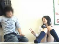 スベスベお肌の女子校生をゲットしたキモイおっさんのウキウキ援交セックス FC2 かわいい制服女子校生JKの無料エロ動画