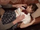 ポニーテールの黒髪巨乳女子校生がおじさんに優しくしてあげちゃう濃厚着衣セックス JavyNowかわいいJK女子校生の制服無料エロ動画