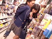 100円ショップの店内で鬼畜男からアナルに媚薬を無理やり注入され公衆トイレでレイプされる女子校生 JavyNowかわいいJK女子校生の制服無料エロ動画