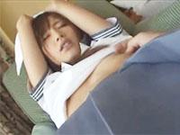 手首をタオルで縛られて好き放題若い身体をもてあそばれる美人女子校生のハメ撮り中出しセックス JavyNowかわいいJK女子校生の制服無料エロ動画
