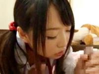 お兄ちゃんのチンポを初々しくフェラチオしてあげるロリJKの妹 裏アゲサゲ かわいいJK女子校生の制服無料アダルト動画