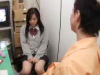 万引きを犯してしまった女子校生を捕まえて強引にフェラチオを要求する鬼畜店長 erovideo かわいいJK女子校生の制服無料アダルト動画