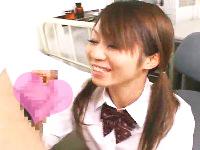 小悪魔系のツインテール女子校生が上から目線で先生たちをお口でしてあげるエッチなフェラチオ JavyNowかわいいJK女子校生の制服無料エロ動画