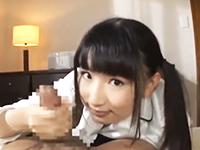 黒髪のロリ少女JKがカメラ目線でいやらしくおチンチンをフェラしながら最後は手コキで男をイカせちゃう ShareVideosかわいいJK女子校生の制服無料アダルト動画