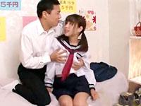 本番禁止なのにお願いしたらヤラせてくれるイケナイバイトのセーラ服女子校生 JavyNowかわいいJK女子校生の制服無料エロ動画