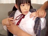 ロリ系制服女子校生のアナルにローターを突っ込みながらパイパンマンコも同時に責めるオジサンのセックス 小西まりえ 裏アゲサゲかわいいJK女子校生の制服無料アダルト動画