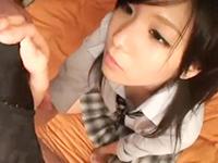 ブレザー制服のスレンダー美少女JKとラブホでハメ撮りセックス 裏アゲサゲかわいいJK女子校生の制服無料エロ動画