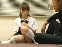 ポニーテールの正統派美少女JKのぎこちないフェラで大きくなったチンコで無許可中出しセックス JavyNowかわいいJK女子校生の無料エロ動画