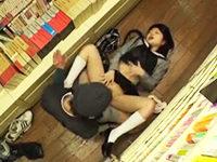 学校帰りに立ち寄った本屋で媚薬を塗られて無理やり犯されて中出しまでされちゃう女子校生 JavyNow